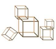 3d кладет взгляд в коробку волшебства иллюзиона Стоковое Изображение RF