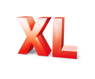 3d красный xl Стоковое фото RF
