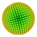 3d любят звезды сферы иллюстрация вектора