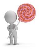 3d малые люди - lollipop Стоковая Фотография RF