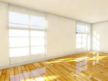 3d опорожняют комнату интерьера дома иллюстрация вектора