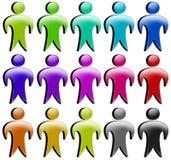 3d покрасило комплект персоны людей иконы Стоковое Фото