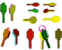 3d пользуется ключом белизна Стоковые Фотографии RF
