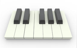 3d пользуется ключом рояль иллюстрация вектора