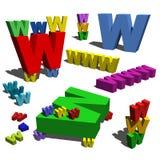 3d помечает буквами www Стоковая Фотография RF