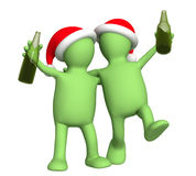 3d празднуя марионеток рождества Стоковые Фотографии RF