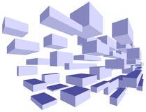 3d преграждает голубое летание Стоковое Фото