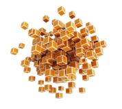3d преграждает кубики иллюстрация вектора