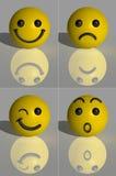 3d представляют smilies Стоковое Фото