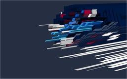 3d придает квадратную форму нашивкам Стоковая Фотография