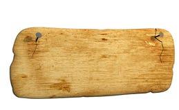 3d прикрепило ногти bursted доской старые Стоковое Фото