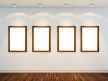 3d пустые представляют комнату Стоковая Фотография