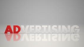 3d рекламируя красную белизну Стоковое Изображение RF