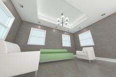 3d самонаводят нутряная живущая комната перевода Стоковые Фото