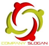 3d соединяет логос иллюстрация вектора