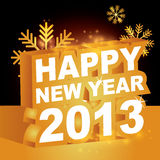 3D, счастливое Новый Год 2013 Стоковое Фото