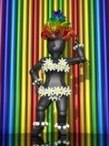 3d танцуя экзотическая девушка Стоковые Фото