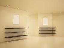3d убирают комната иллюстрации нутряная новая Стоковое Фото