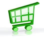 3d购物车购物 免版税库存照片