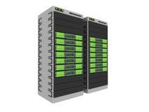 3d #1 Server-Verde Fotografia de Stock Royalty Free