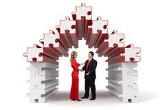 3d商号成为难题解决方法的伙伴 免版税库存图片