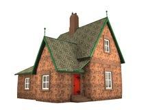3d房子例证 库存照片