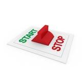 зеленый красный переключатель стопа старта 3d Стоковая Фотография