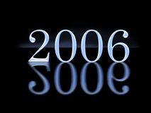 3D  2006 year. Special f/x with reflection, toned Royalty Free Stock Photo