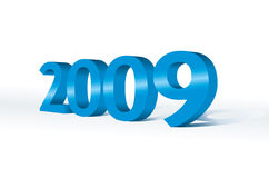 3d 2009. New year concept Stock Photography