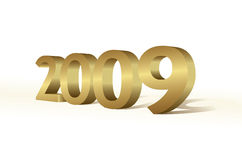 3d 2009. New year concept Royalty Free Stock Photo