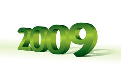 3d 2009. New year concept vector illustration