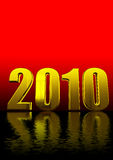 3d 2010 text on red and black Royalty Free Stock Photo