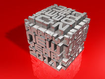 3d 2011 art cube Stock Images