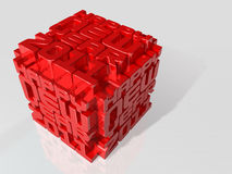 3d 2011 art cube Royalty Free Stock Image