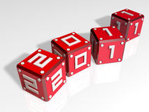 3d 2011 art cubes Royalty Free Stock Photos