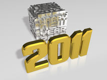 3d 2011 art and cubes Royalty Free Stock Photography