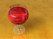 3d 2011 art wine glass Royalty Free Stock Images