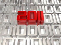 3d 2011 in the digital world Stock Photos
