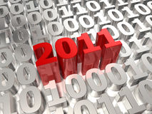 3d 2011 and digital world Royalty Free Stock Images