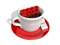 3d 2011 letter's tea time Royalty Free Stock Photography