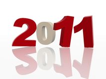 3d 2011 in red and grey Stock Image