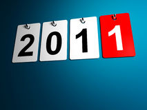 3d 2011 text. 3d image of 2011 calendar for new year day Stock Photography