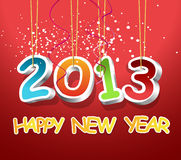 3D 2013 and happy new year. 3D happy new year and 2013 Stock Photos