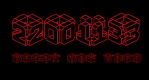 3d 2013 happy new year. 3d 2013 in red text on a black surface Stock Image