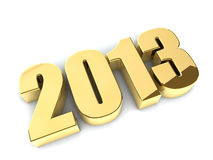3D 2013 year golden figures Royalty Free Stock Images