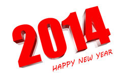 3D 2014. 3D Happy new year 2021 Stock Images