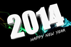 3D 2014. 3D Happy new year 2021 Royalty Free Stock Images