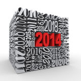 3d 2014 new year cube Stock Photo