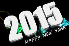 3D 2015. Three dimensions Happy new year 2015 Royalty Free Stock Image