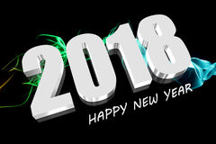 3D 2018 red. Three dimensions Happy new year 2018 Stock Image